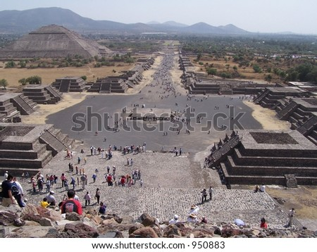 Teotihuacan. Ancient city in Mexico - stock photo