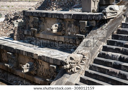 Teotihuacan pyramid, ancient city in Mexico
