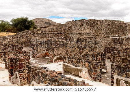 Teotihuacan, site of many Mesoamerican pyramids built in the pre-Columbian Americas. UNESCO World Heritage