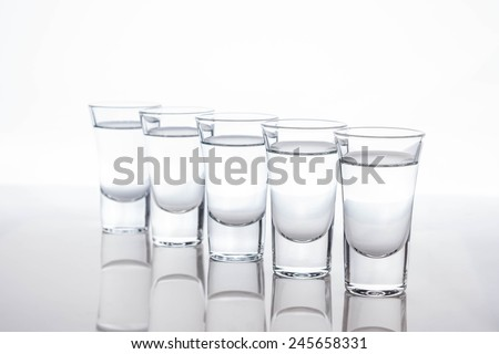 Tequila in shot glasses