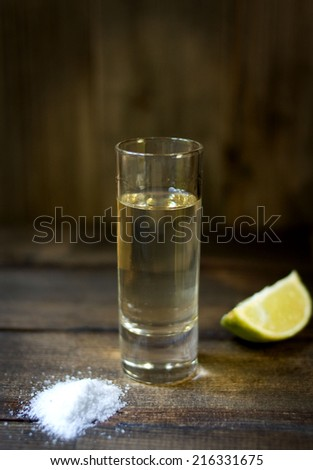 Tequila with lemon and salt.