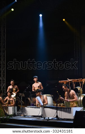 TERENGGANU, MALAYSIA - OKT 24-26: Unidentified musicians play in a World Gamelan Festival on OKT 24, 2015 in Terengganu, Malaysia. (Selected Focus)