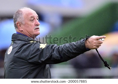 TERESOPOLIS, BRAZIL - JUNE 21, 2014: Felipe Scolari, coach of Brazil is seen during a training session at the Granja Comary training center. Gaspar Nobrega/VIPCOMM. NO USE IN BRAZIL