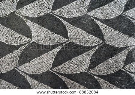 Terme di Caracalla - floor detail - stock photo