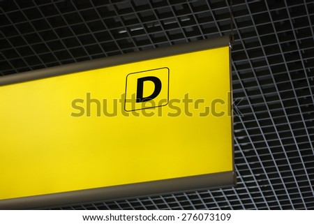 Terminal sign at the airport - stock photo