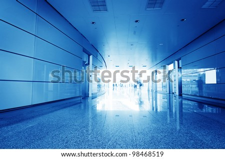 Terminal within a modern architectural style - stock photo