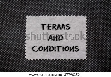 Terms and conditions words written on a chalkboard - stock photo