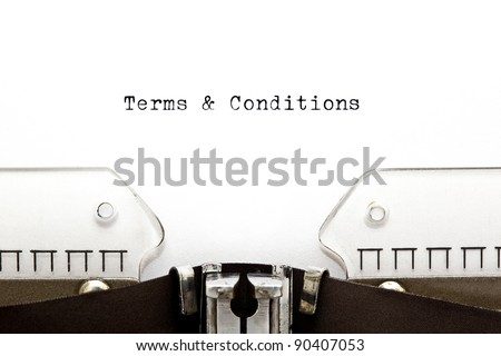 Terms & Conditions written on an old typewriter - stock photo