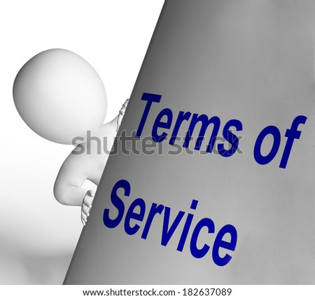 Terms Of Service Sign Showing User And Provider Agreement