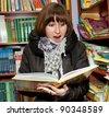 TERNOPIL, UKRAINE - NOVEMBER 30: Ukrainian Writer Nadiia Gerbish reading from children's books in bookshop. Public reading on November 30, 2011 in Ternopil, Ukraine - stock photo