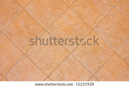Terra Cotta tiles background (perfect for texturing) - stock photo
