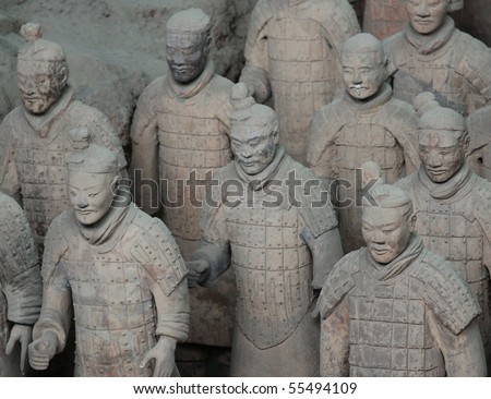 Terra Cotta Warriors - stock photo