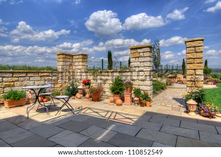 terrace - stock photo