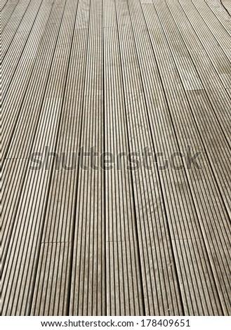 Terrace brown wood floor background - stock photo