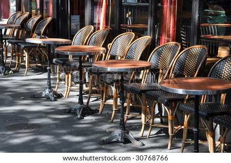 Terrace cafe - stock photo