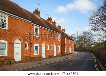 Terrace Houses. - stock photo
