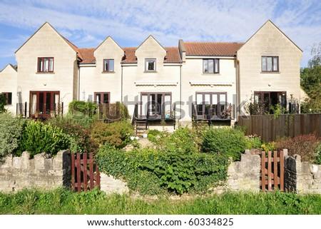 Terraced Houses - stock photo