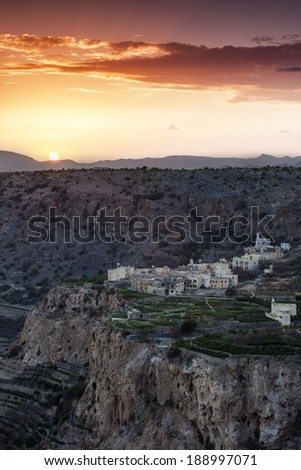 Terraces of Jebal Akhdar, Oman - stock photo
