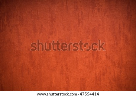 Terracotta background (vignetted) - stock photo