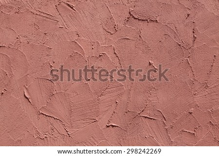 Terracotta stucco wall. Background texture. - stock photo