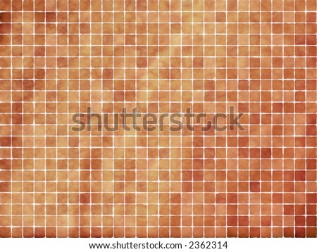 Terracotta Tiles - stock photo