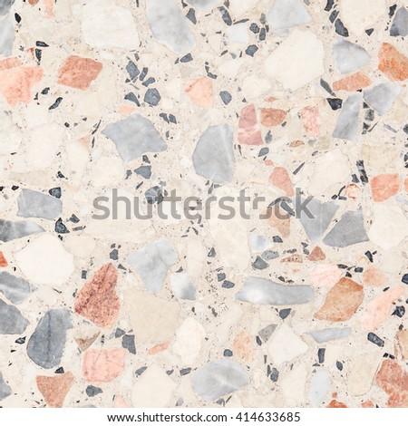 Terrazzo floor texture background - stock photo