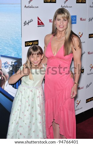 Terri Irwin & daughter Bindi Irwin at the G'Day USA Australia.com Black Tie Gala at the Hollywood & Highland Centre, Hollywood, CA. January 19, 2008  Los Angeles, CA Picture: Paul Smith / Featureflash - stock photo