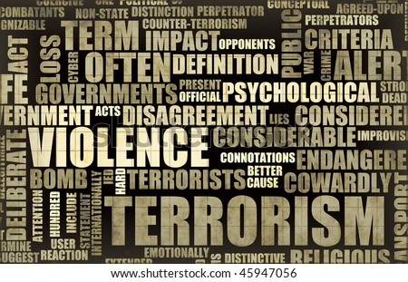 Terrorism in the News Headline Newspaper Art - stock photo