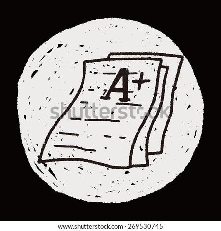 test papper doodle - stock photo