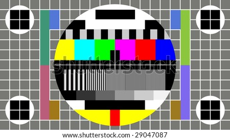 Test Pattern for Wide Screen TV - stock photo
