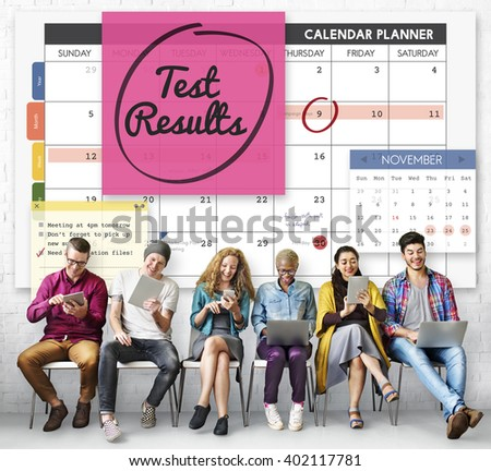 Test Results Report Research Examination Concept - stock photo