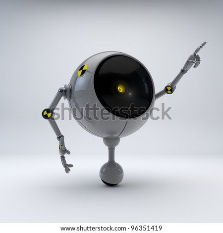 Test Robot Point Up - stock photo