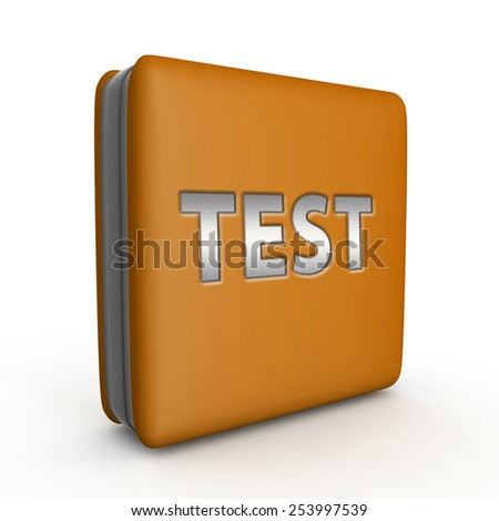 Test  square icon on white background