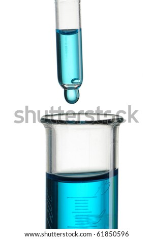 Test tube and pipette close-up - stock photo
