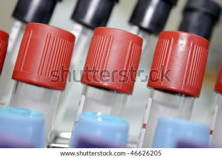Test tube background - stock photo