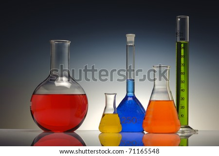 test tube glass in chemistry laboratory