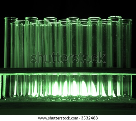 Test tubes in rack - stock photo