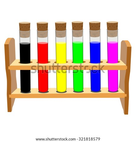 Test tubes, test tubes isolated, checmical tubes - stock photo