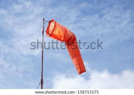 Test wind direction, wind speed instruments - stock photo