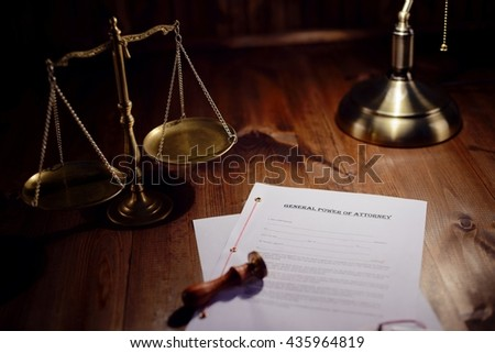Testament ready to be signed in notaries public office - stock photo