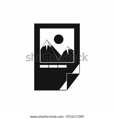 Tested ink paper with printer marks icon - stock photo