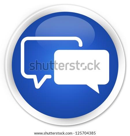 Testimonial icon blue button - stock photo