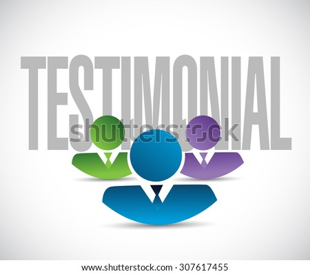 testimonial team sign illustration design graphic over white - stock photo