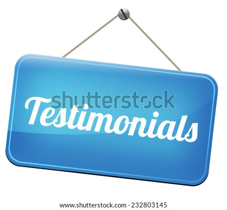 testimonials customer feedback testimonial or leave a comment  - stock photo