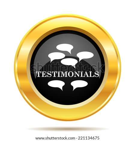 Testimonials icon. Internet button on white background.  - stock photo