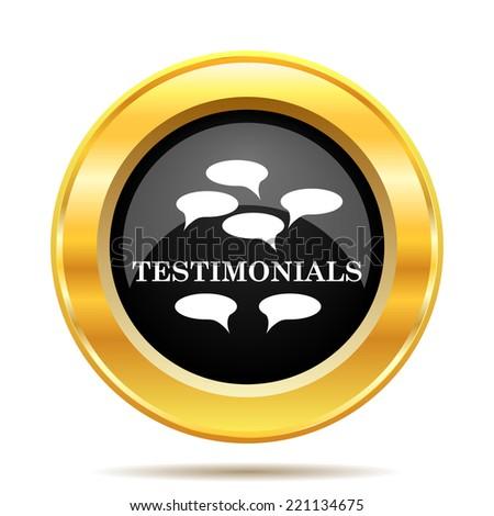 Testimonials icon. Internet button on white background.  - stock photo