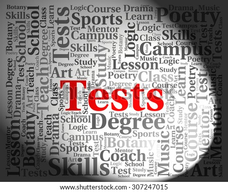 Tests Word Indicating Testing Words And Examinations