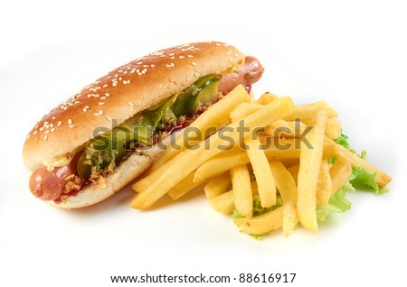 testy hot-dog - stock photo