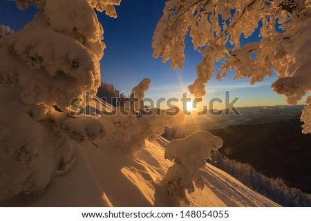 teton pass dawn - stock photo