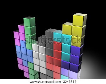 tetris - stock photo